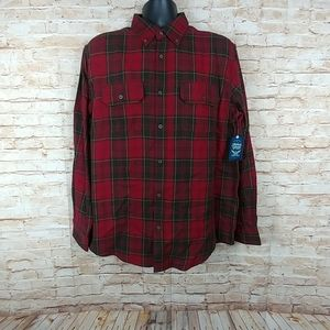 Faded Glory 100% cotton flannel Red/black L 42 44